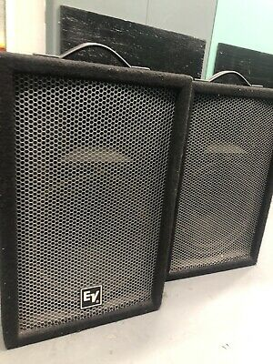 """Electro Voice EV Force One 1 Pair 12""""  150 Watts 80ohms 2 Way Monitors Tested"""