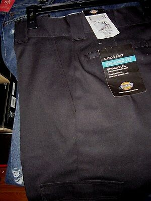 Dickies Mens Black Industrial Relaxed Fit Straight Leg Cargo Pants LP537BK