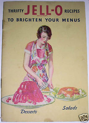 1931 JELL-O Advertising Cookbook, Color Illustrations