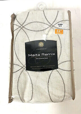 Cambria® Malta Remix 84-Inch Grommet Top Window Curtain Panel in Off White