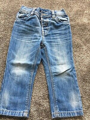 Boys Jeans 2-3y Denim Trousers Blue Washed Straight George