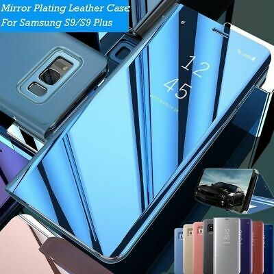 Smart View Mirror Leather Flip Stand Case Cover for Samsung Galaxy S7 S8 S9 Plus