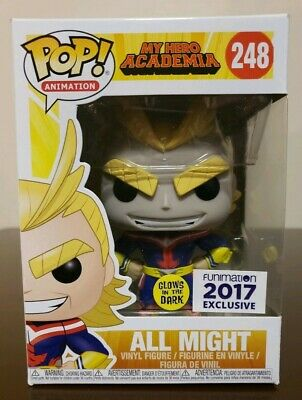 Funko POP! My Hero Academia #248 All Might Glow In the Dark Funimation Exclusive