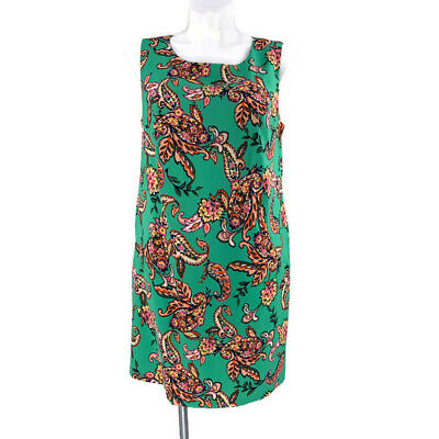 ROZ & ALI Dress Barn NWT Plus Size 16W Green Floral Sleeveless Sheath Dress