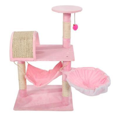 """32"""" Pink Cat Tree Tower Condo Furniture Scratch Post Kitty Pet House Play Bed"""