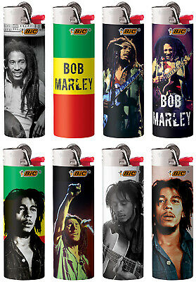 BIC Bob Marley Series Lighters Special Edition Set of 8 Lighters All New Designs