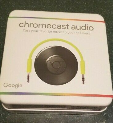 New, Google Chromecast Audio Media Streamer - Black