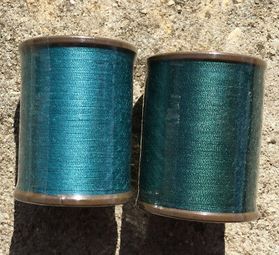 """2pk BROTHER """"Forest Green + Dark Green"""" Country Yarn Machine Embroidery Threads"""