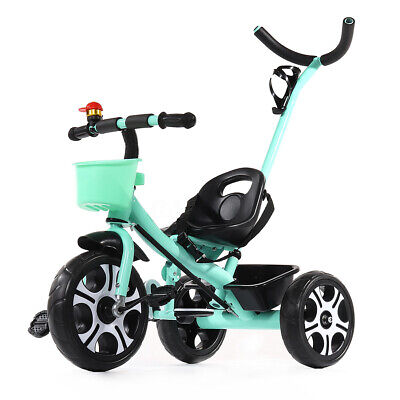 2 In 1 Kids Baby Toddler Tricycle Trike Bike Bicycle 3Wheel Ride On Toy + Handle