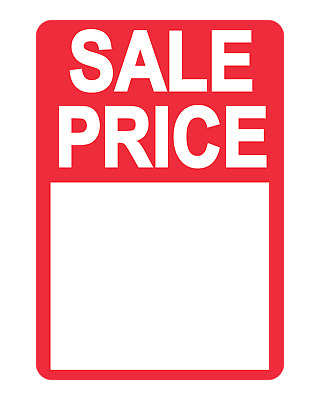 Bright Red On Roll Sale Price Stickers / Labels For Use With Thermal Printers