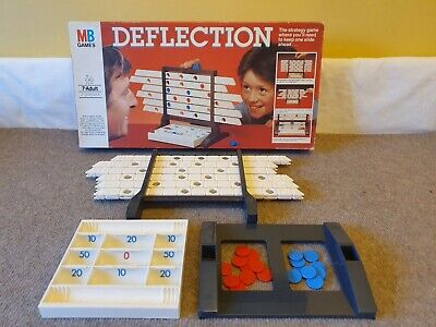 VINTAGE DEFLECTION - Family Board Game Like Connect 4 - MB GAMES - COMPLETE