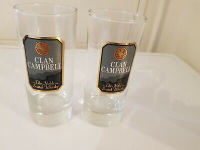 Whisky Clan Campbell 2  Verres NEUFS RARE