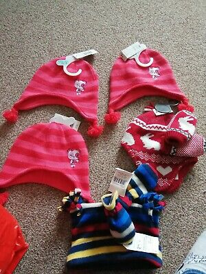 Job lot of 5 baby hats and gloves BNWT TU F&f Primark