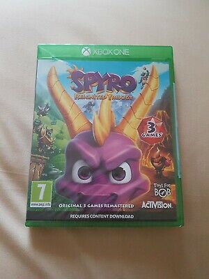 Spyro Reignited Trilogy Video Game for Xbox One New Sealed Uk Pal Stock