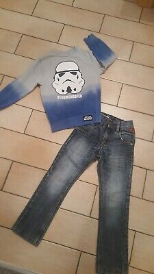 Boys NEXT skinny jeans & star wars jumper bundle age 5 years l@@k
