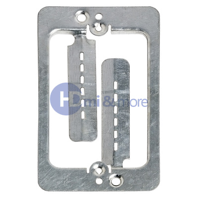 2x Single Gang Low Voltage Wall Plate Steel Drywall Mounting Bracket
