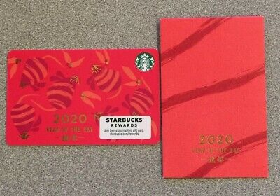 *NEW* 2020 Starbucks Year Of The Rat w/ Red Envelope