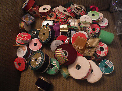 LARGE LOT of Vintage Ribbon Crafting Various Assortment of Sizes