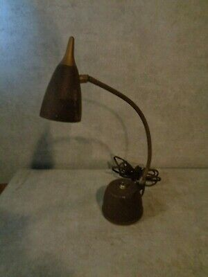 Vintage Underwriters Laboratories Portable Gooseneck Desk Lamp Works ####