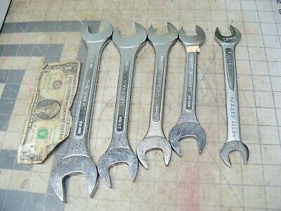 Lot SK OPEN END Wrenches 8225 8224 8221 8220 Metric Easco 61613 USA Excellent