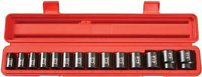 TEKTON 1/2 in Drive Shallow Impact Wrench Socket Set Metric 6-Pt 11mm-32mm 14pcs