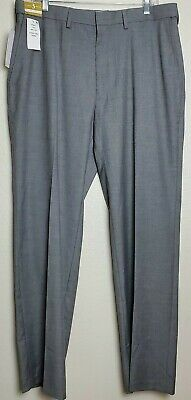 J.M. Haggar Mens Texture Weave Stretch Classic Fit Suit Separate Pant 36x32 Grey