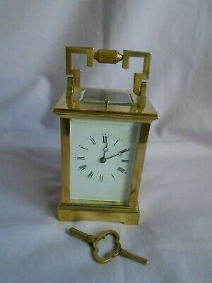 French Repeater Carriage Clock + Key In Good Working Order Fully Restored 2018