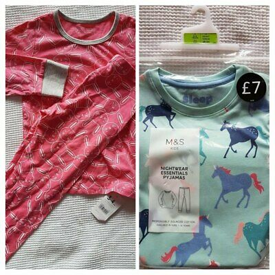 All BNWT 3-4 Girls Toddler Pyjamas Bundle (Long Sleeve), M&S and Mothercare