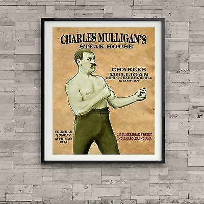 Ron Swanson Charles Mulligan's Steak House Poster Parks Recreation TV Prop Gift