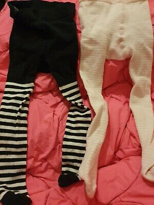 Two Lovely Girls Pairs Of Tights Age 18-24 Months