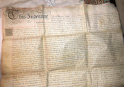 1767 Four-Page Indenture on Vellum  7th year of the reign of George III