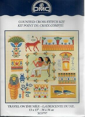 DMC Counted Cross Stitch Embroidery Kit Travel On The Nile Sampler XC0797 New
