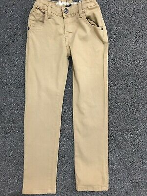 Boys Beige Slim Fit Chino Pants Trousers Age Uk 5 Years