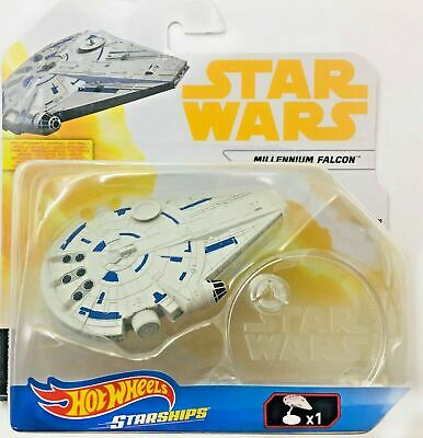 Hotwheels HW Starships-Star Wars Millennium Falcon with Display stand