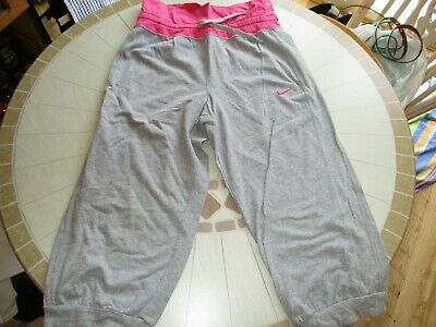 Nike Grey & Pink Tracksuit Bottoms, Age 12-13, 152cm to 158cm