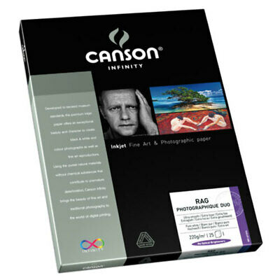 Canson Infinity Rag Photographique Duo 220gsm A3+ - 25 Sheets