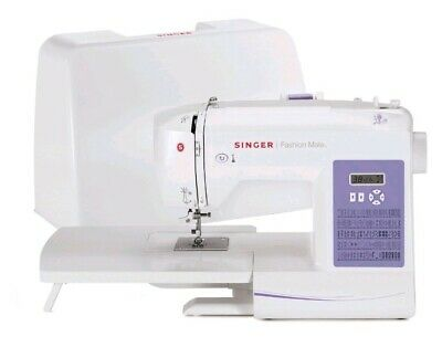 Singer 5560 Fashion Mate Computerized Sewing Machine-Hard Lid-Extension Bed-NEW