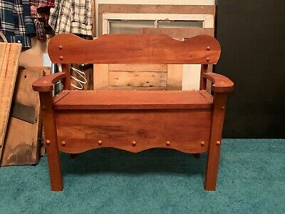 Antique Mini/Doll Bench With Storage
