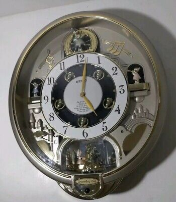 SEIKO  Charming Bell Melodies in Motion Animated Music Wall Clock QXM109SRH
