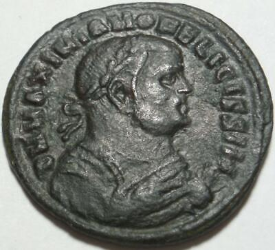 306 AD ROME >TETRARCHY Scarce POST-ABDICATION Half Follis of MAXIMIAN Alexandria