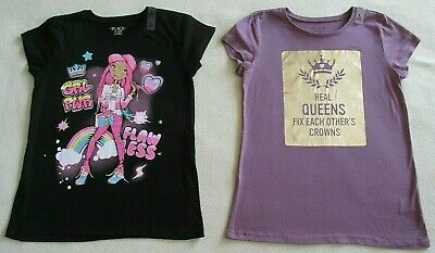 The Childrens Place Girls Graphic Tees Size L 10-12- Lot of (2)- NWT!