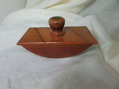 Antique Wooden Ink Blotter With Inlay.