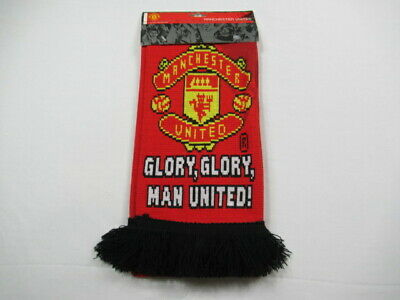 Club Licensed Man Utd Glory Glory Scarf Red One Size