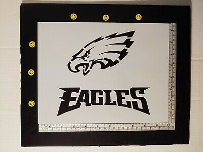 "/""PHILADELPHIA EAGLES/"" Football Team 8.5/"" x 11/"" Stencil Plastic Sheet NEW S100"