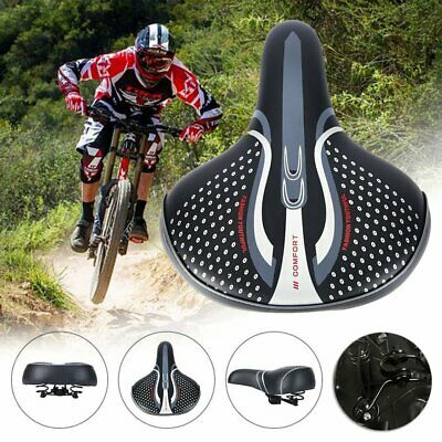 Bike Bicycle Gel Wide Large Bum Comfortable Cycling Saddle Seat Sporty Pad