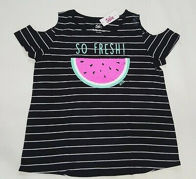 NWT Justice Girls Kids Size 10 or 18//20 Watermelon Flip Sequin Top Green Shorts