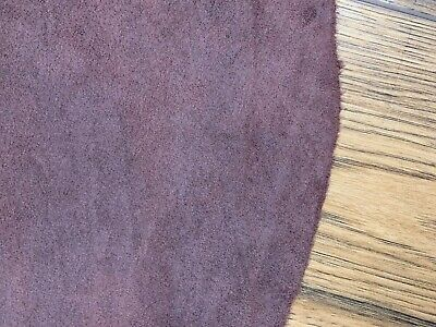 **CLEARANCE**  SUEDE SINGLE BUTT - MAHOGANY 1mm