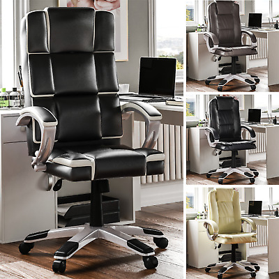 Executive Office Chair Computer Gaming Swivel Home Leather Adjustable Desk