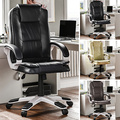Executive Office Chair Gaming Computer Home Leather Swivel Adjustable Desk