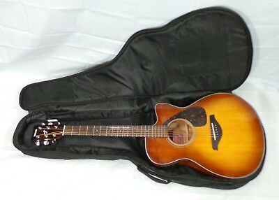 Yamaha FSX700SC Solid Top Concert Cutaway Acoustic-Electric Guitar Sand Burst
